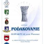 Olympijský klub děkuje firmě SLOVAKTUAL