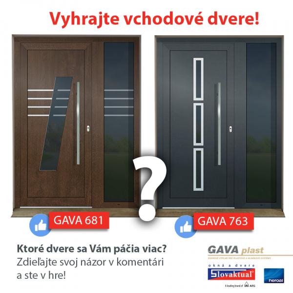 Vyhrajte vchodové dvere od Slovaktualu s dvernou výplňou od GAVA plastu
