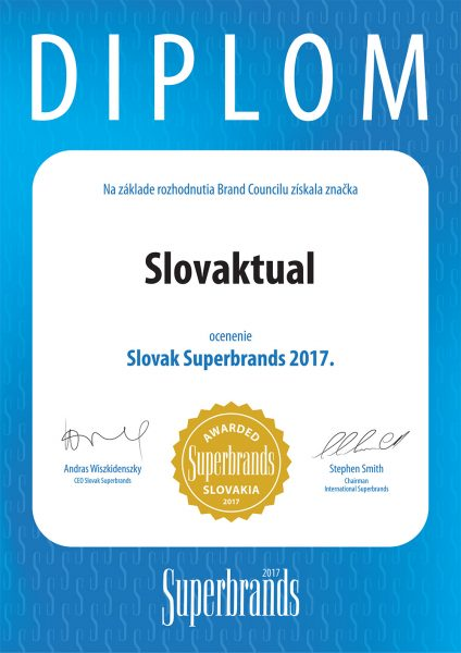 Slovaktual Slovak Superbrands 2017