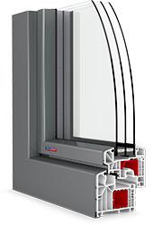 roh plastového okna PASIV HL s hliníkovým klipom