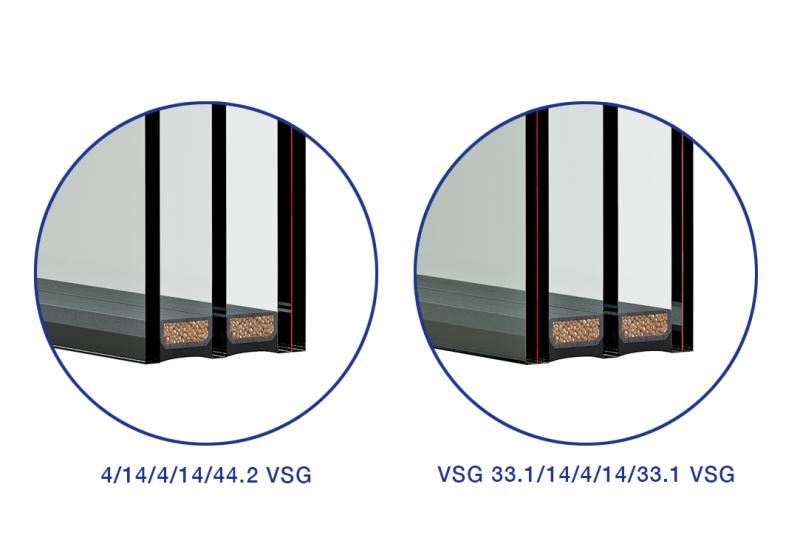 Izolačné trojsklo s VSG