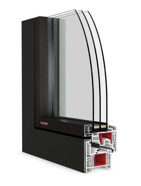 Plast-hliníkové okno Slovaktual OPTIM FL
