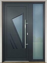 Vchodové dveře SLOVAKTUAL GAVA 091 antracit s přísvetlíkem