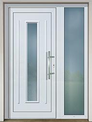 Vchodové dveře SLOVAKTUAL GAVA 151 bílá s přísvětlíkem