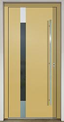 Vchodové dveře SLOVAKTUAL GAVA 490 FD žlutá