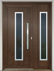 Vchodové dvere SLOVAKTUAL GAVA 754 laminácia nussbaum