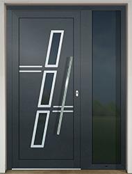 hliníkové vchodové dvere s bočným prísvetlíkom