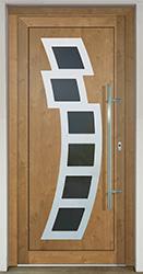 Domové vstupné dvere s dvernou výplňou GAVA 892 v laminácii Irish Oak