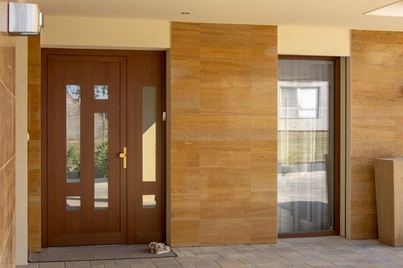 vchodové dvere s HPL výplňou GAVA 964