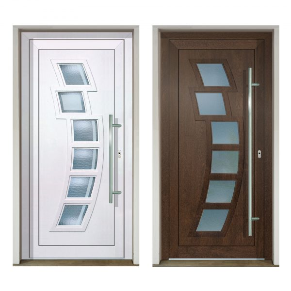 Vchodové dvere Slovaktual GAVA 292 biele a nussbaum