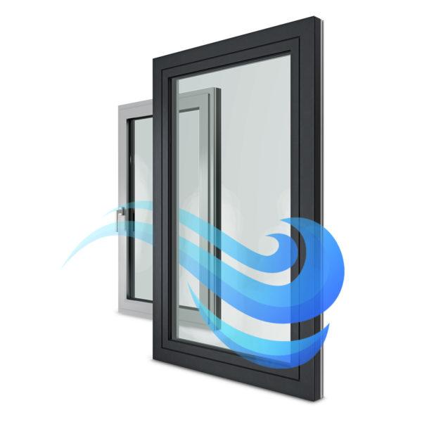 Prievzdušnosť okien
