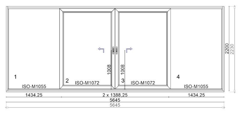 Schéma C zdvižno-posuvné dvere