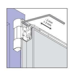 Viditeľné pánty okna - bočné nastavenie na hornej nožnici kovania ROTO