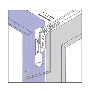 Viditeľné pánty okna - nastavenie prítlaku na hornom pánte