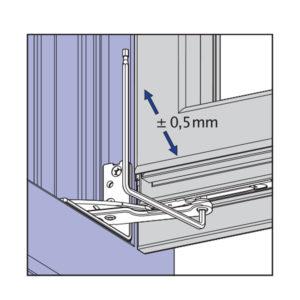 Skryté pánty okna - nastavenie prítlaku na rámovom ložisku