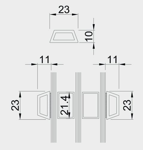 nalepovacia okenná mriežka (priečka)