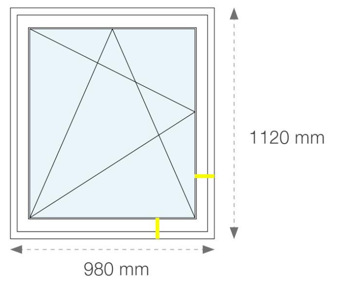 Znázornenie pohľadovej výšky profilu okna OS