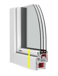 pohľadová výška profilu okna - zvýraznenie
