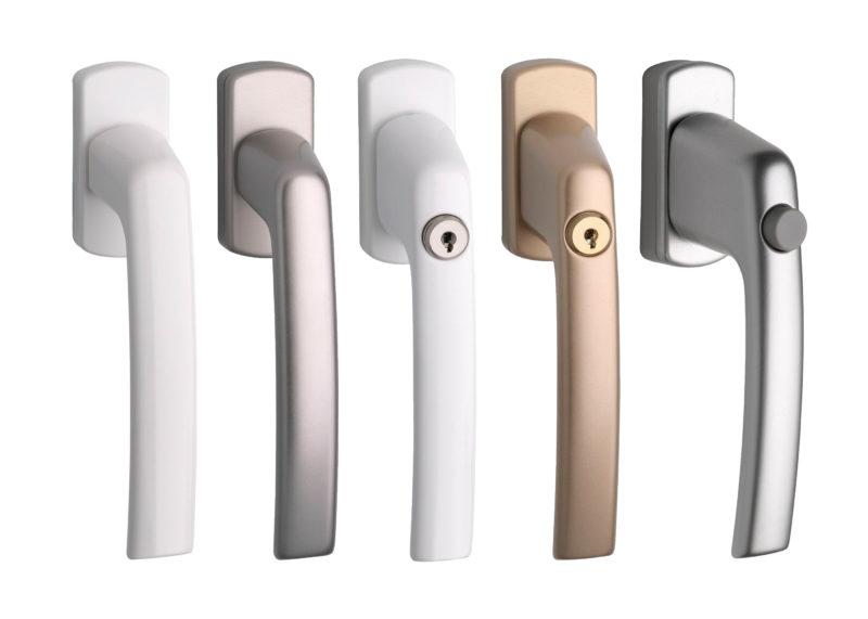 Kľučky pre plastové okná - štandardné zaisťovacie a uzamykacie