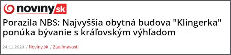 Článok Klingerka Noviny