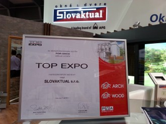 SLOVAKTUAL ocenený na veľtrhu FOR ARCH Praha 2014