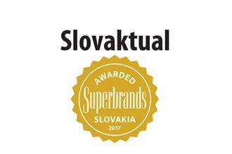 SLOVAKTUAL získal prestížne ocenenie Slovak Superbrands 2017.