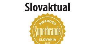 SLOVAKTUAL získal prestižní ocenění Slovak Superbrands 2017.