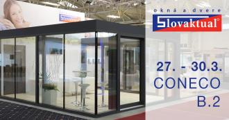 Líder trhu okien a dverí vystavuje na CONECO 2019