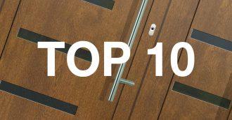TOP 10 – najpredávanejšie vchodové dvere u nás